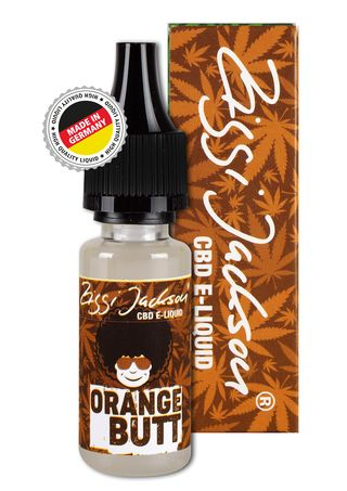 CBD Liquid Orange Butt bottle with box