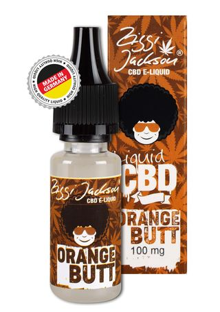 CBD Liquid Orange Butt Bottle 100mg with box