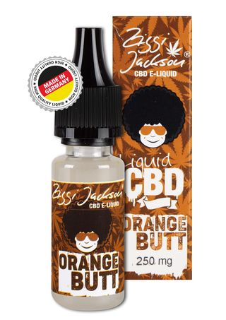 CBD Liquid Orange Butt bottle 250mg with box