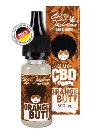 CBD Liquid Orange Butt bottle 500mg with box