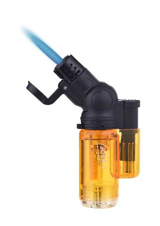 PROF Rotary Angle Blue Flame Torch Gasbrenner, sort. Farben rot