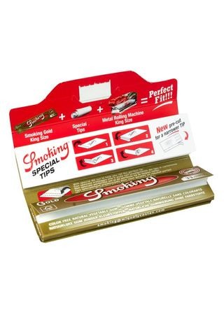 Smoking GOLD King Size SLIM Papier + Filtertips