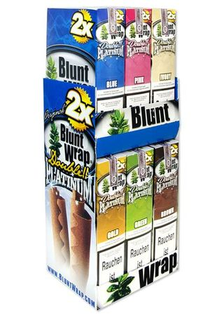 Blunt Wrap Display Blueberry Burst (Blue)